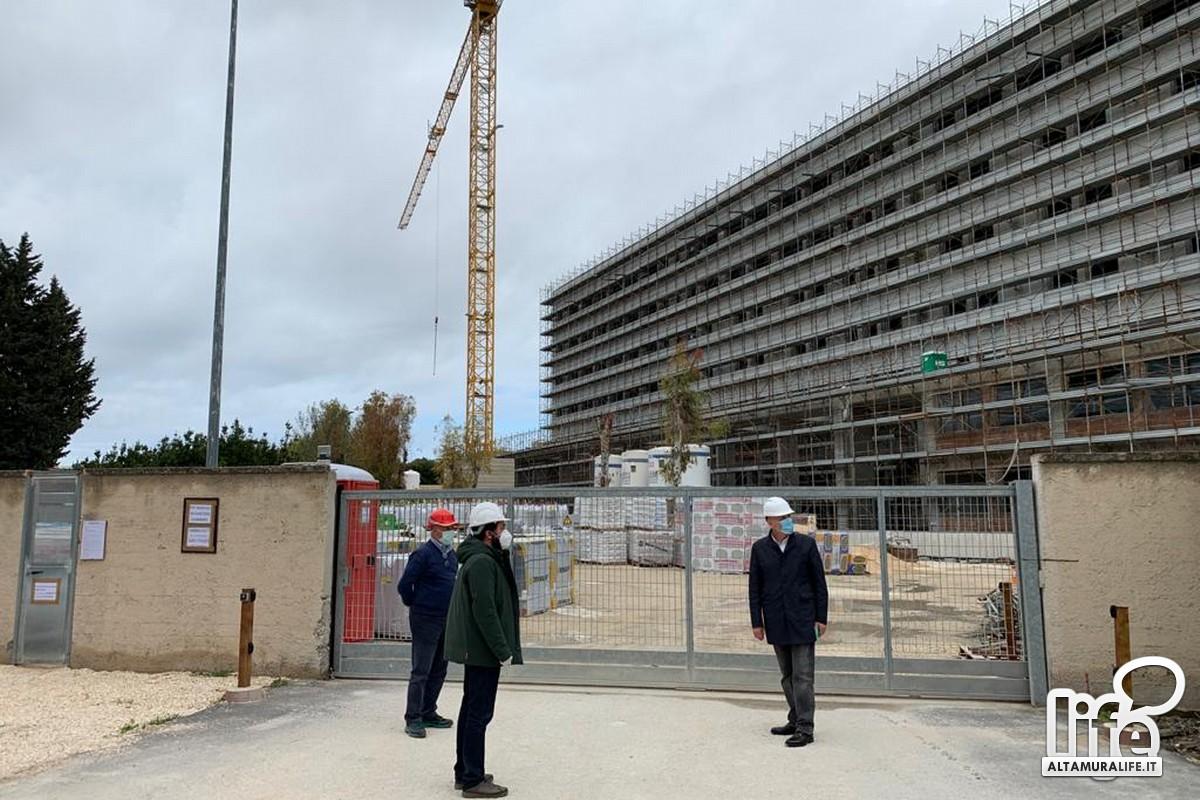 """Cantiere di """"Asclepios"""" al Policlinico di Bari"""