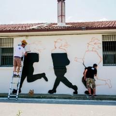 Street art alla caserma dell'Esercito