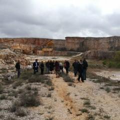 Valle dinosauri, sopralluogo del sottosegretario Borgonzoni