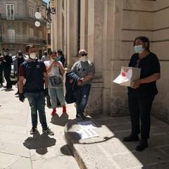 Manifestazione al Comune