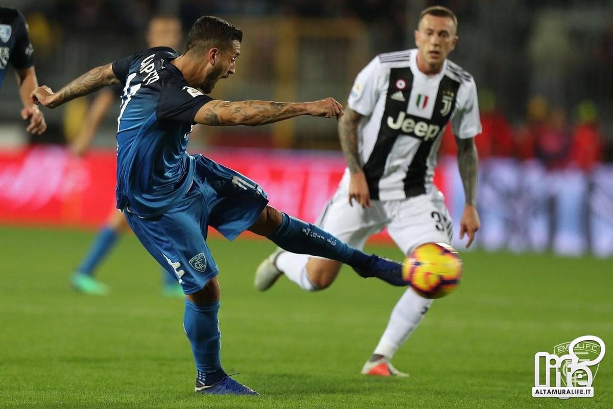 Ciccio Caputo segna alla Juventus (Foto Empoli FC)