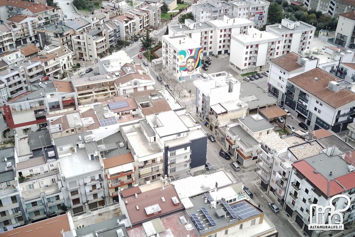 Quartiere in via Corato dall'alto