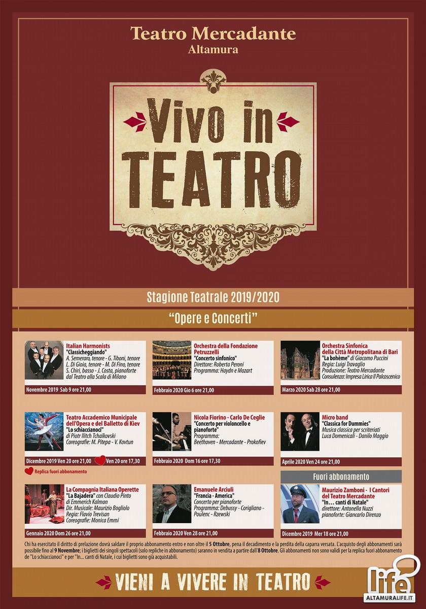 Stagione d'Opera e concerti 2019-2020