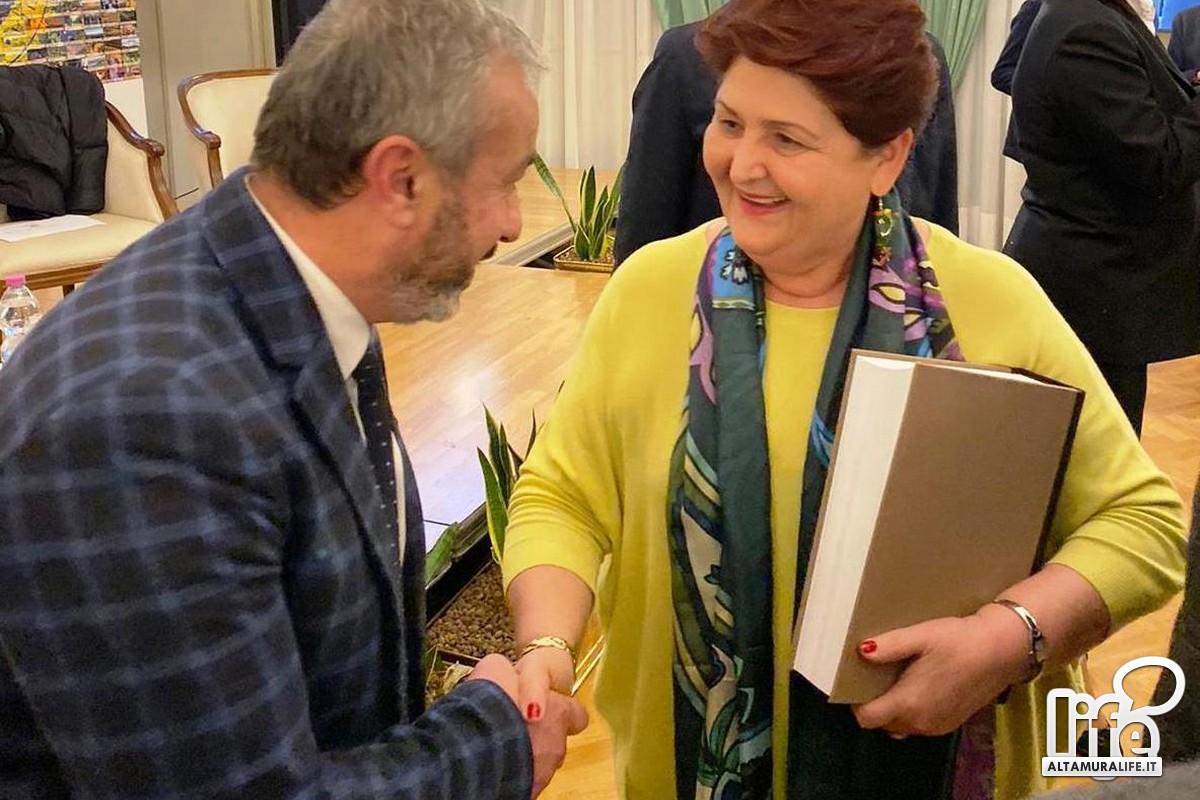 Gino Picerno e il ministro Teresa Bellanova