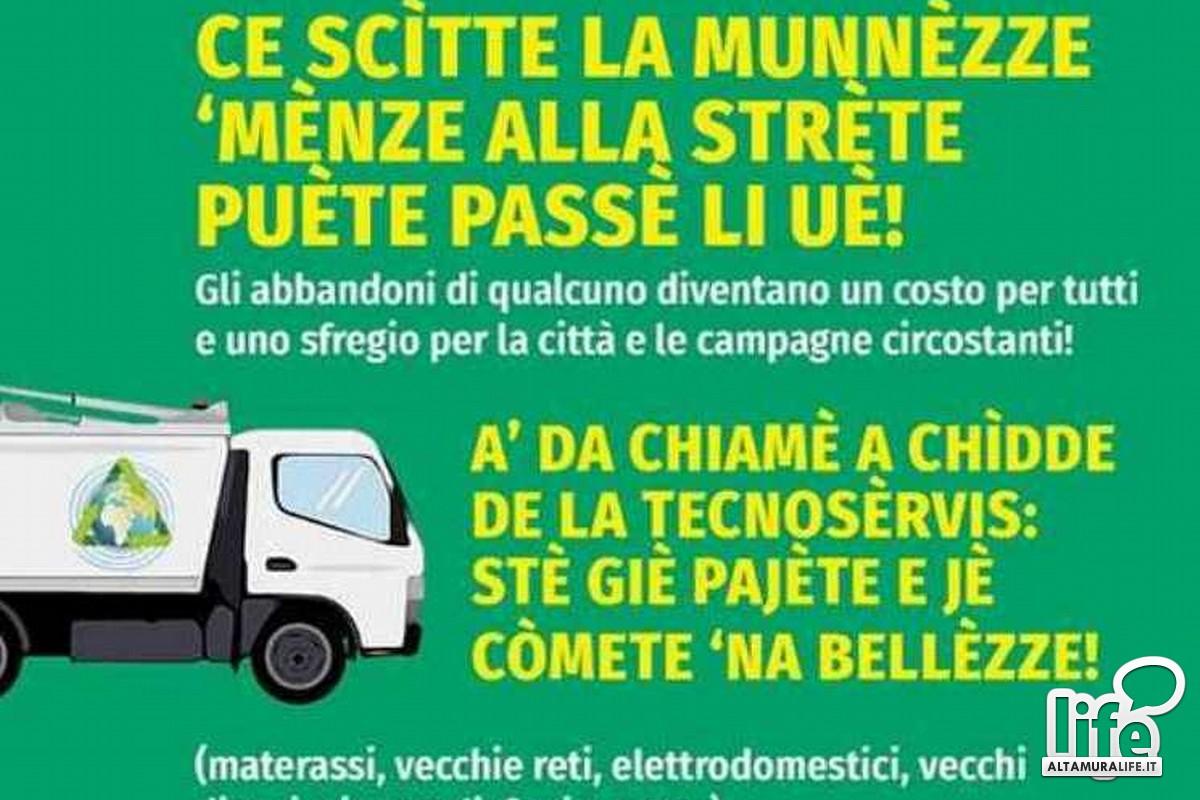 Manifesto sui rifiuti