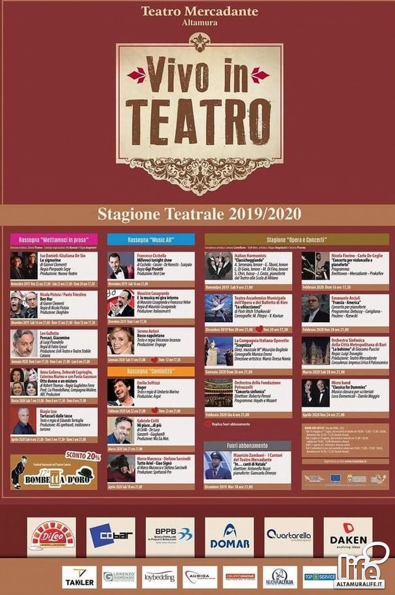 Cartellone del Teatro Mercadante