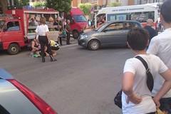 Investita una donna nei pressi della chiesa di San Sepolcro