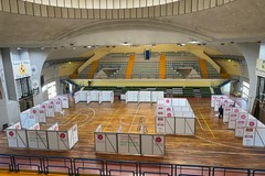Palazzetto dello sport allestito come centro vaccinale