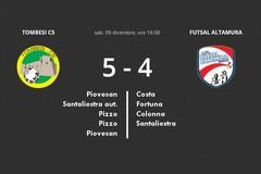 Iesi Futsal Altamura cuor di leone cade solo nel finale contro la Tombesi C5