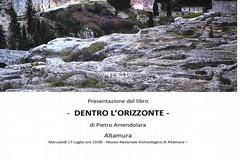 """Presentazione del libro di Pietro Amendolara """"Dentro l'orizzonte. Gravina un paese del sud"""""""