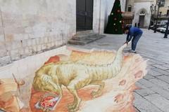 """Un dinosauro sotto la Cattedrale, ecco il """"disegno in 3D"""""""
