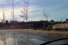 Ringhiera pericolosa tra piazza stazione e via Corato