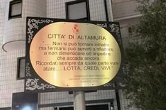 Una targa in ricordo di Domenico Martimucci