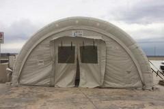Allestita una tenda all'ospedale della Murgia