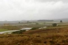 Straripa di nuovo il torrente Jesce, inondate le campagne