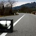Protesta simbolica contro il degrado televisivo