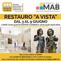 """Museo dei matronei: fino al 9 giugno  """"Restauro a vista """" presso il MUDIMA"""