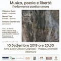 """Musica, poesia e libertà, performance poetico sonora al  """"Cagnazzi """""""
