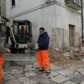 Lavori di allacciamento elettrico presso Palazzo Baldassarre