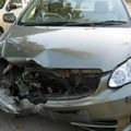 Incidente questa mattina in via Matera