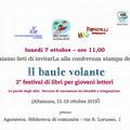 """Conferenza stampa de  """"Il baule volante """", 2° festival di libri per giovani lettori"""