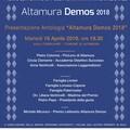 Premio letterario Altamura Demos 2018, presentazione antologia