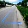 Ridisegnate le linee dei parcheggi in città