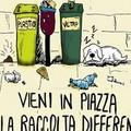 Raccolta differenziata in piazza Duomo