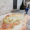 """Un dinosauro sotto la Cattedrale, ecco il  """"disegno in 3D """""""