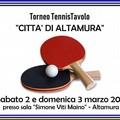 Torneo di ping pong ad Altamura