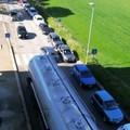 Auto in coda per i tamponi Covid19, traffico impazzito a ridosso dello stadio
