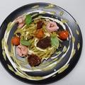 """Ricetta Salata """"Trofie con pistacchi e pallone"""""""