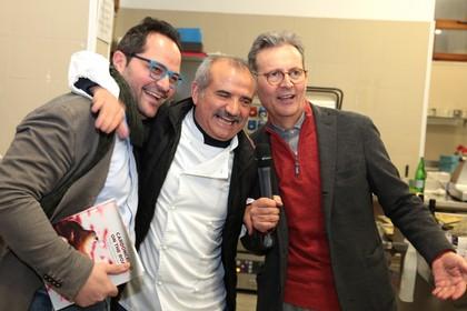 Onofrio Pepe (1° da destra)