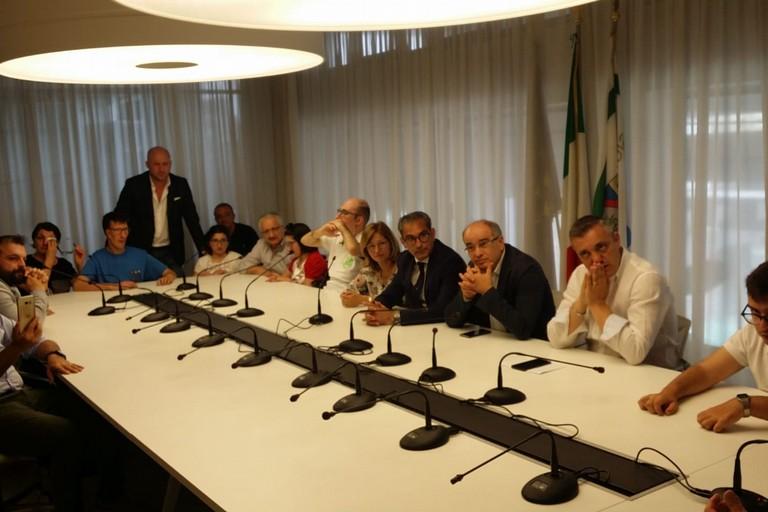 conferenza stampa assegni di cura