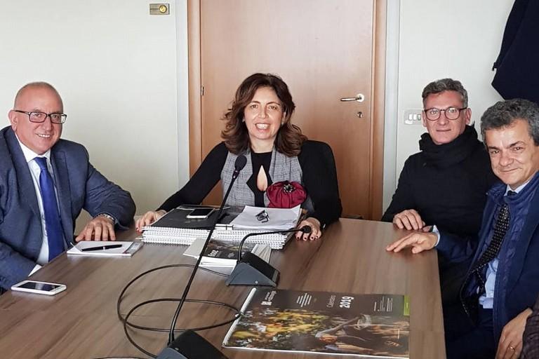 nella foto da destra D. Nicoletti, C. Troia, M.C. Giarratano e G. Romano