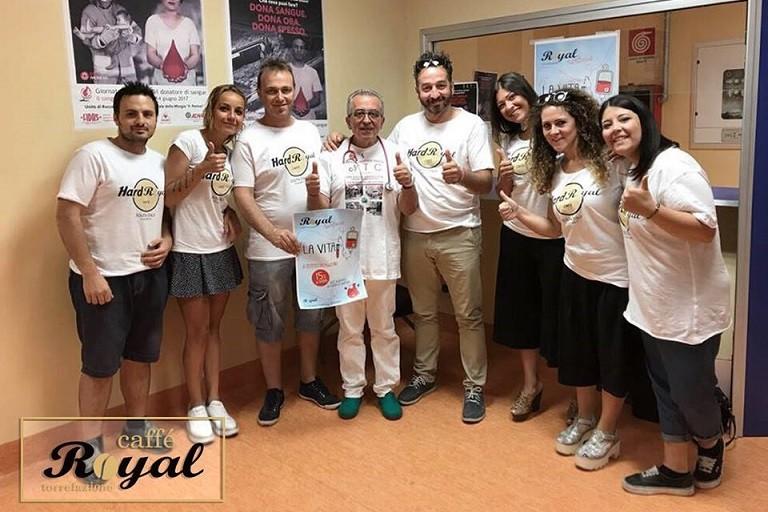 Royal Caffé sostiene la vita e premia i donatori di sangue