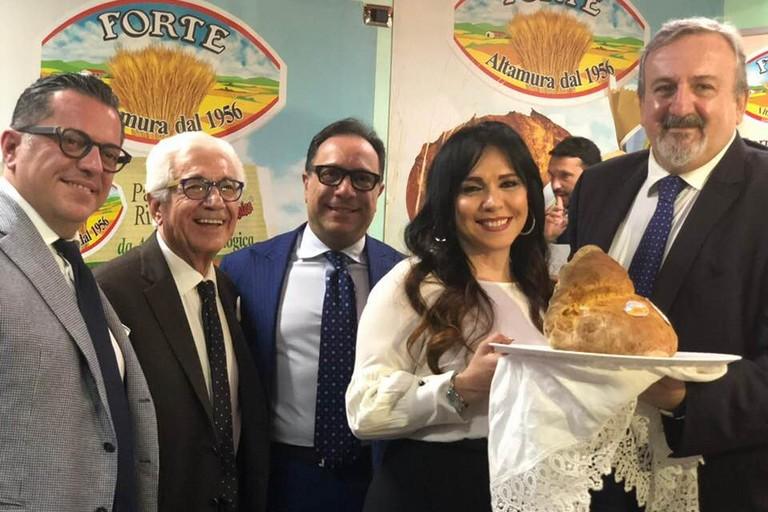 Famiglia Forte con il presidente Michele Emiliano