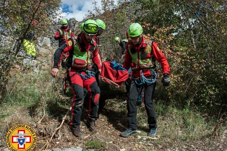 Esercitazione del Corpo nazionale di soccorso alpino e speleologico