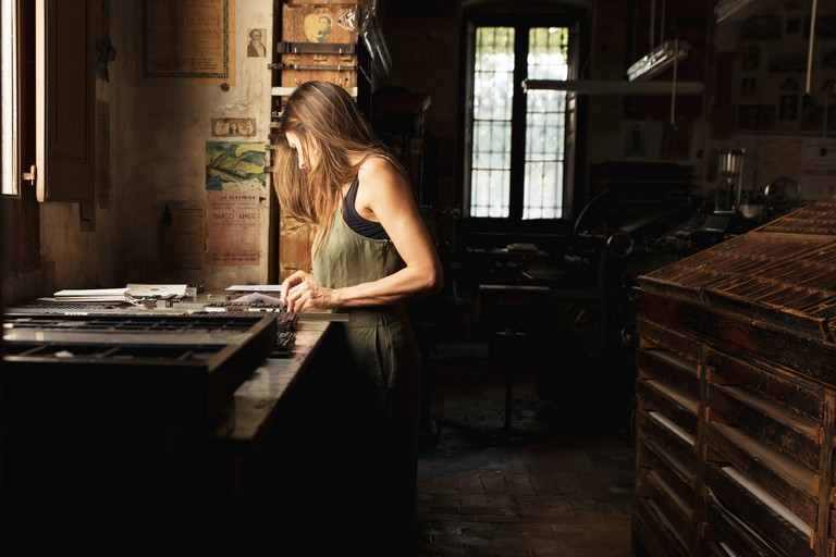 Francesca Portoghese nell'Antica Tipografia di famiglia