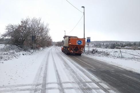 Neve sulle strade della Murgia