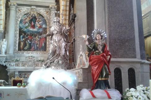 Statue dell'Assunta e di Sant'Irene. <span>Foto Onofrio Bruno</span>