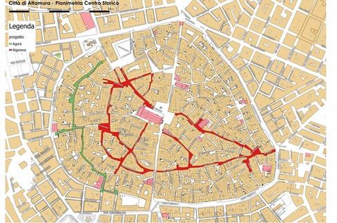 Centro storico, piantina dei lavori