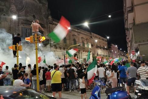 Festa a Porta Bari per l'Italia
