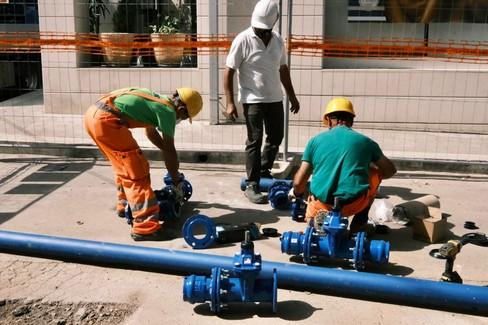 Lavori alla rete idrica