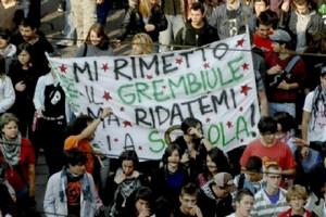 manifestazione contro Gelmini
