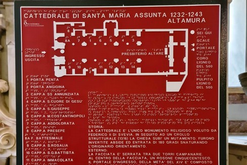 Mappa tattile della Cattedrale