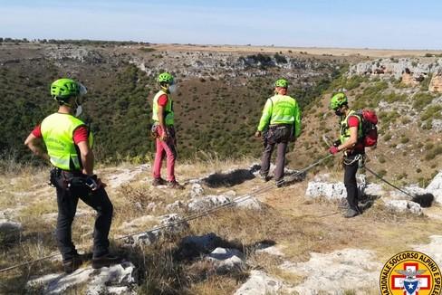 Soccorso alpino e speleologico al Pulo