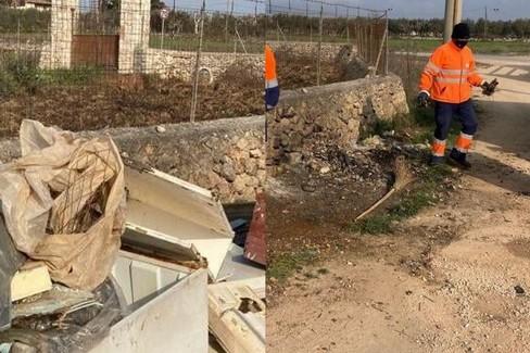 Pulizia dei rifiuti (prima e dopo)