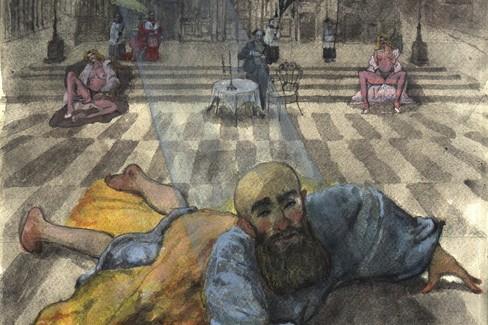 Un'opera di Domenico Ventura - Conversione di Saulo (particolare)