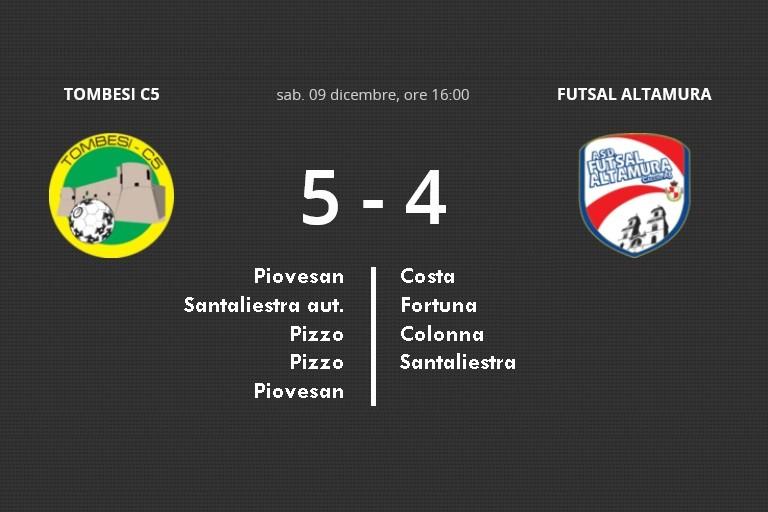 Iesi Futsal Altamura contro la Tombesi C5
